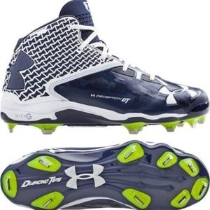 Under Armour Deception Blue & White Baseball Cleat